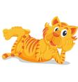 Tiger laying down vector image vector image