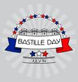 bastille day card stars bastille fortress vector image