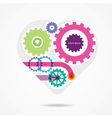 bright mechanical heart vector image
