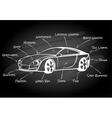 Car parts infographic element vector image