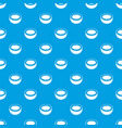 half of coconut pattern seamless blue vector image