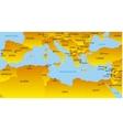 Mediterranean region vector image