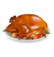 Thanksgiving turkey fried vector image