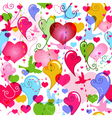 valentine colorful pattern vector image