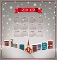 A 2017 quaint Christmas village calendar vector image vector image