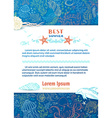 background of wild sea life vector image