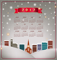 A 2017 quaint Christmas village calendar vector image