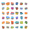 big set of colorful discount and promotional sale vector image