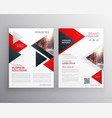 Business brochure in red black triangle shape vector image