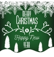 card greeting merry christmas and new year vector image