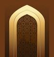islamic doorway view arabian night vector image