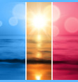 Sea sunset with the sun vector image