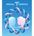 The Medicine Genetics vector image