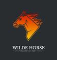 Wilde horse head logo template vector image