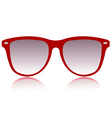 red sunglasses vector image