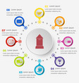infographic template with post icons vector image