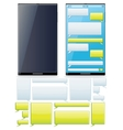 Smartphone SMS Chat Template vector image