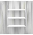 Wood shelf on wood background  EPS10 vector image