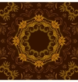 Abstract brown floral background with round vector image