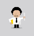 Engineer Man Character vector image