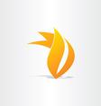fire burn symbol design vector image