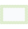 guilloche green horizontal frame vector image vector image