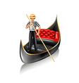 Venice gondola isolated vector image
