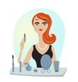 make up of glamour girl vector image