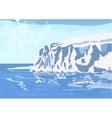 Antarctic iceberg in the snow vector image
