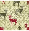 Christmas seamless vintage wallpaper vector image