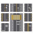 collection of roads highway top view surfaces vector image