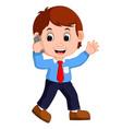 cute businessman cartoon vector image