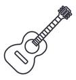 flamenco guitar line icon vector image