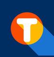 letter t sign design template element vector image