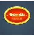 Retro sign design advertising for motel vector image