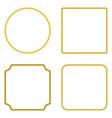 set of rope frame flat design vector image