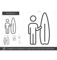 surfing line icon vector image