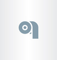 toilet paper symbol icon vector image