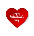 red paper Valentines heart vector image vector image