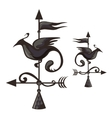 Wrought iron weathervane in form of bird vector image