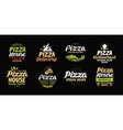 pizza set icons labels symbols signs vector image