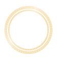 golden shiny circle frame on transparent vector image