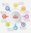 infographic template with entertainment icons vector image