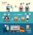 Business design e-shopping concept people set vector image vector image