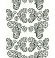 floral pattern monochrome vector image vector image