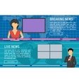 Two banners of world TV news anchors vector image