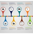 Infographics timeline template vector image