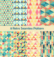 8 Retro different seamless patterns set vector image