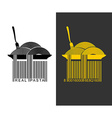 Spaghetti bar code EAN-13 barcode pasta Creative vector image