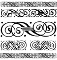 Distressed scroll borders vector image